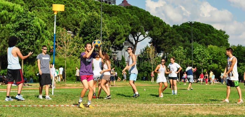 夏天Korfball事件在伊斯坦布尔 免版税图库摄影