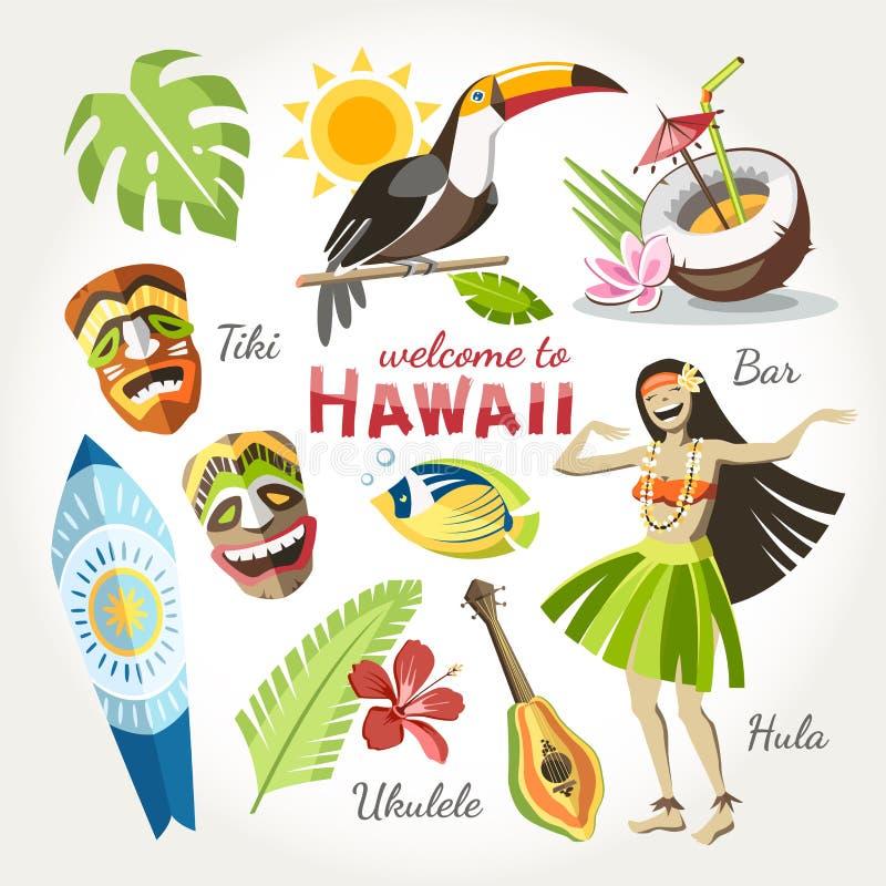 夏威夷传染媒介汇集 免版税库存图片