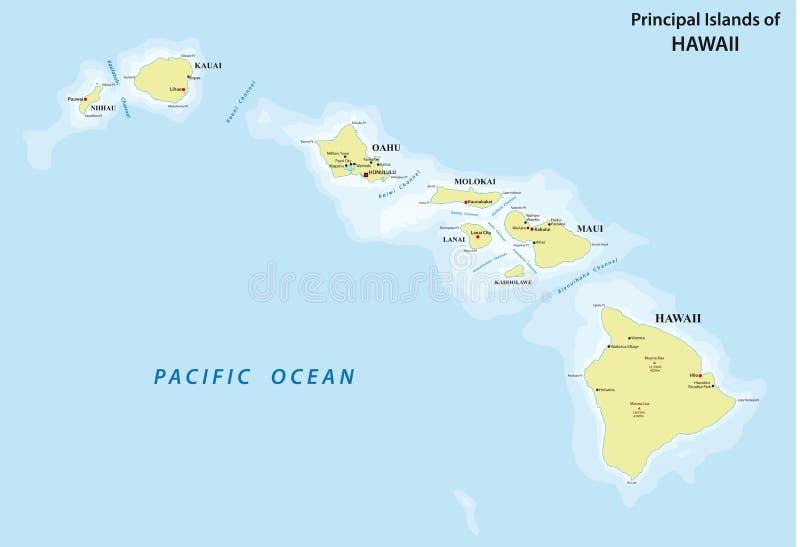 夏威夷地图 库存例证