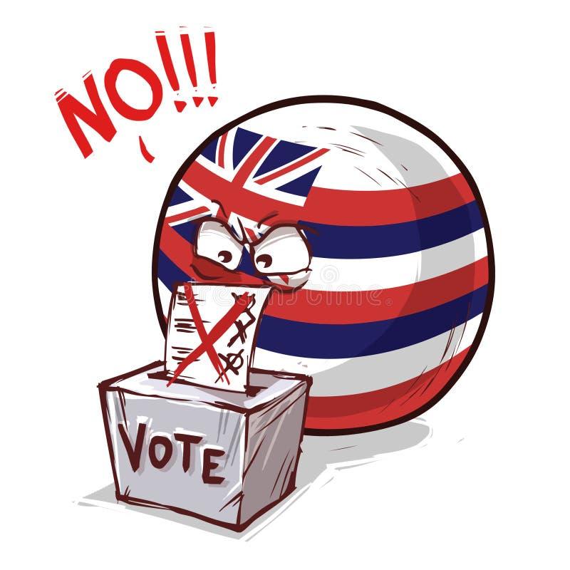 夏威夷投反对票海岛的球 向量例证