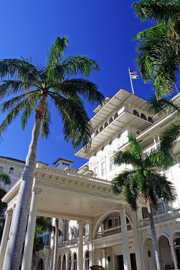 夏威夷旅馆moana奥阿胡岛waikiki 免版税库存照片