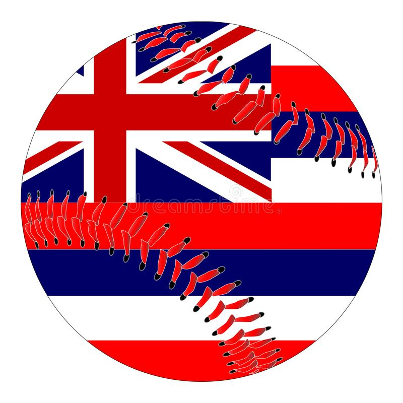 夏威夷旗子棒球 库存例证