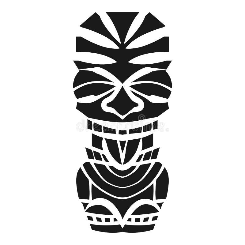 夏威夷木神象象,简单的样式 皇族释放例证