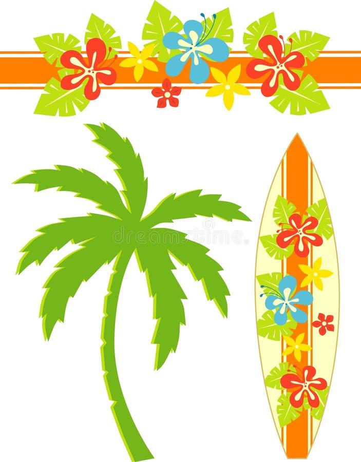 夏威夷海浪 向量例证
