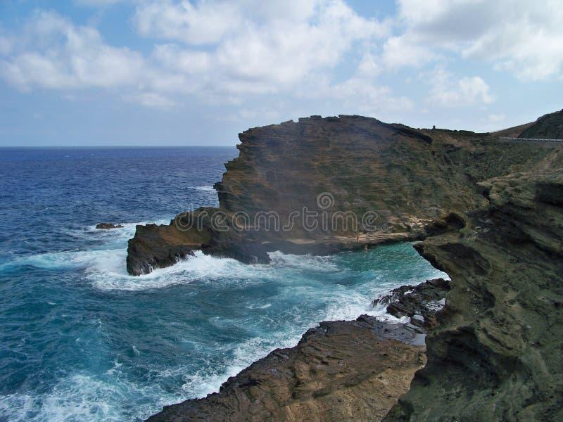 夏威夷海边视图 免版税库存照片