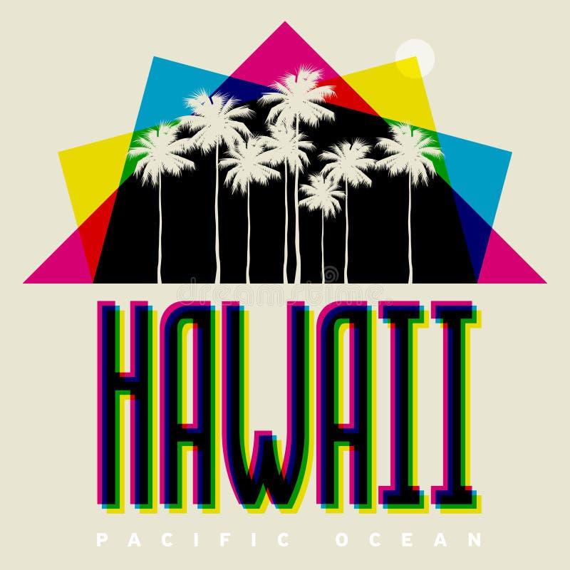夏威夷海滩,传染媒介例证题材  库存例证
