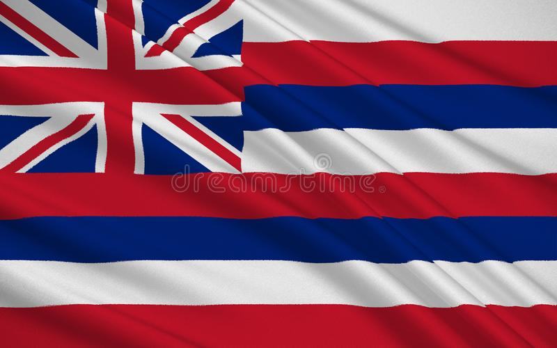 夏威夷的状态标志 向量例证
