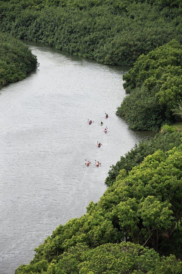 夏威夷考艾岛皮船 库存图片
