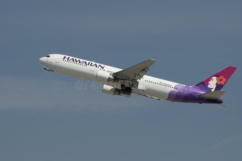 夏威夷航空公司喷气机波音767 库存照片