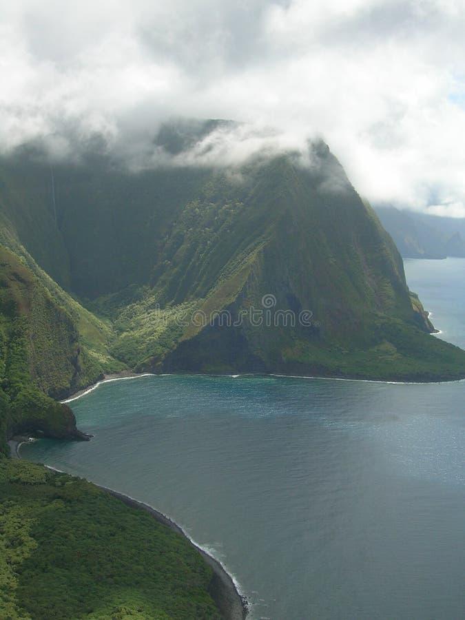 夏威夷防波堤 库存图片