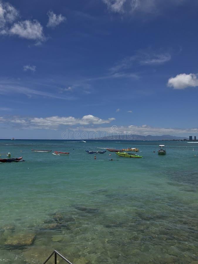 夏威夷,威基基海滩图片 库存照片