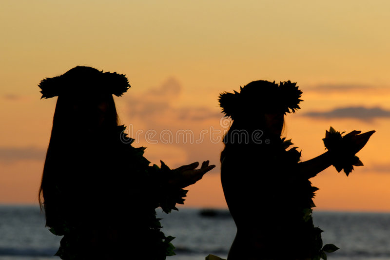 夏威夷hula 免版税图库摄影