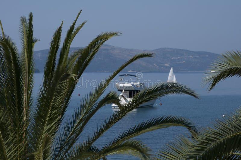夏季,地中海海滩的美景令人惊艳 库存图片