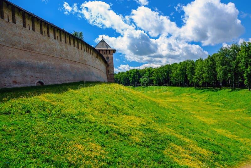 夏日和古老城堡 免版税图库摄影