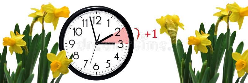 夏时制 更换时钟到夏时 免版税库存图片