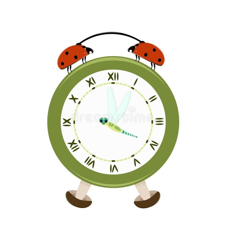 夏时时钟 向量例证