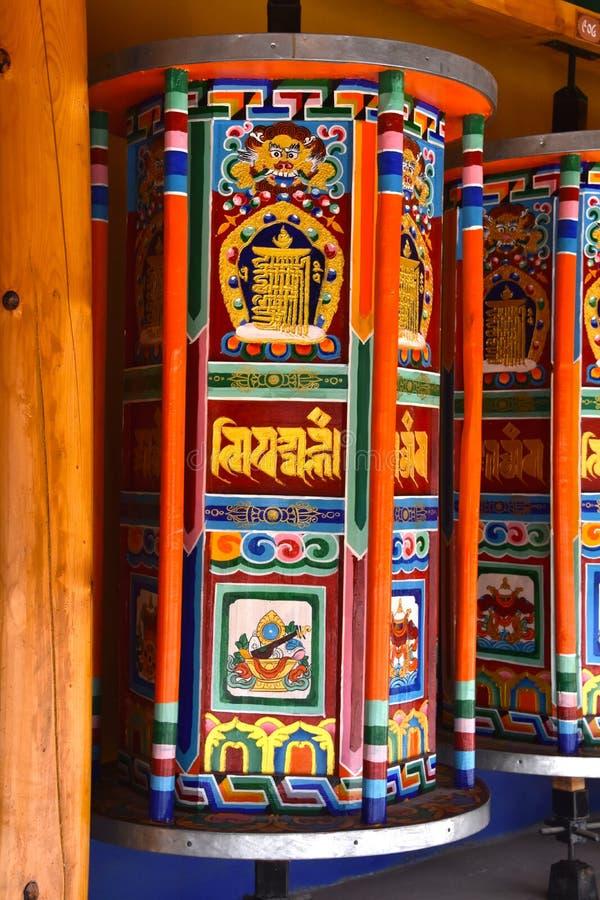 夏河的,中国拉卜楞修道院 库存图片