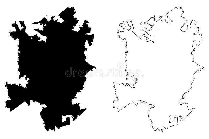 夏洛特市地图传染媒介 皇族释放例证