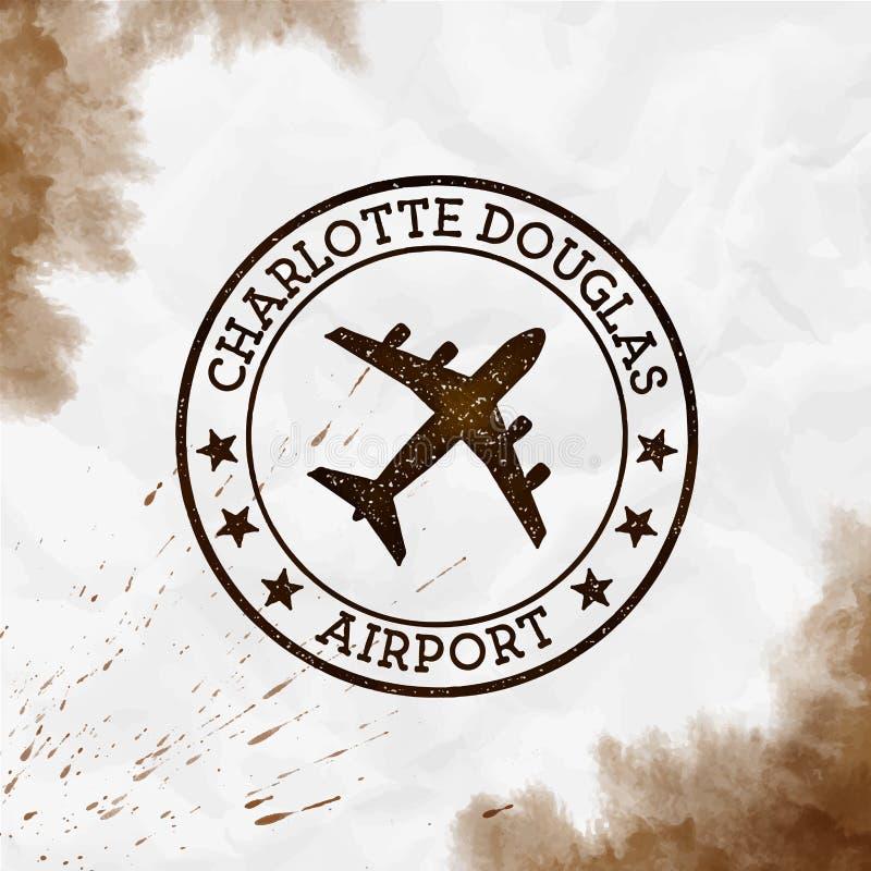 夏洛特道格拉斯机场商标 向量例证
