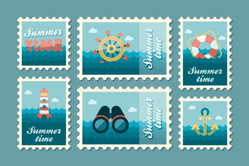 夏令时海洋邮票集合舱内甲板 皇族释放例证