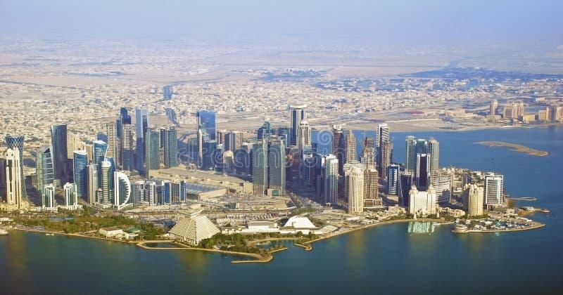 外交区域-卡塔尔 库存图片