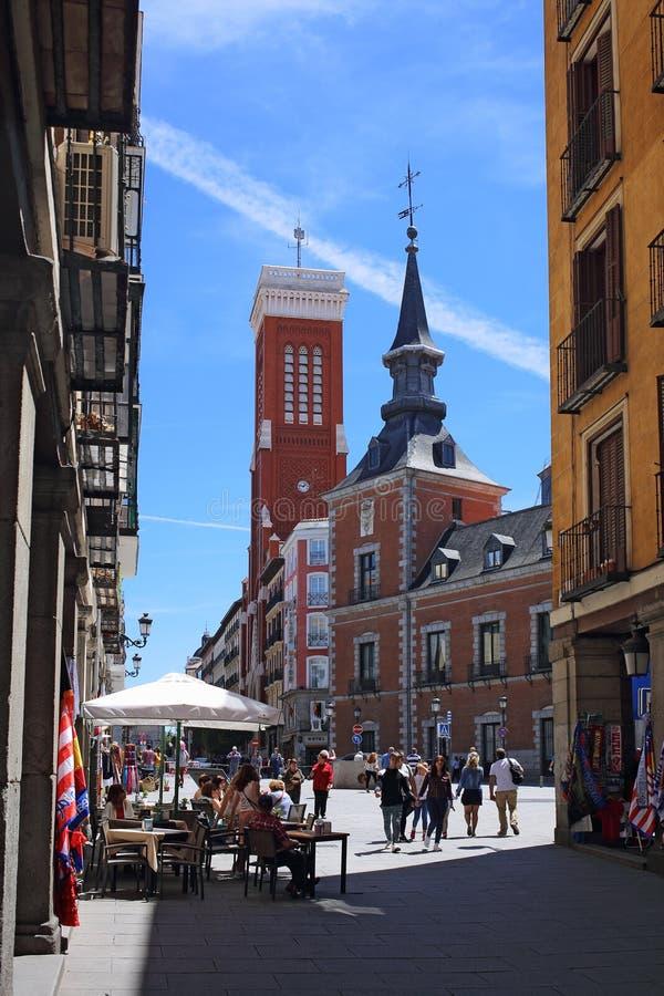 外交部和旅馆,马德里,西班牙 免版税库存图片