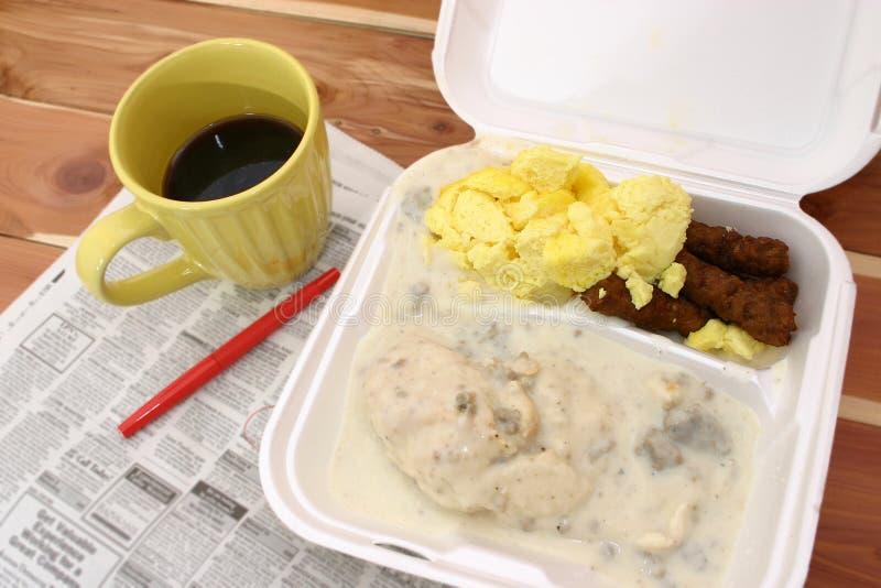 外卖的早餐 免版税库存照片