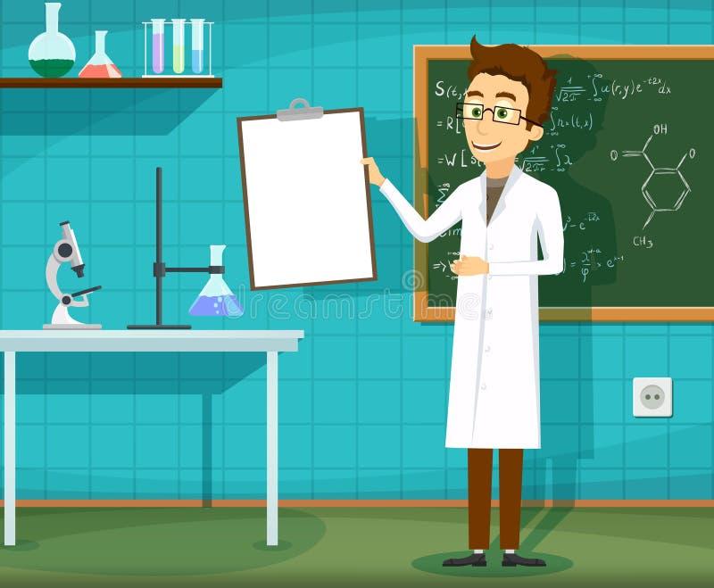 外套实验室人白色 向量例证