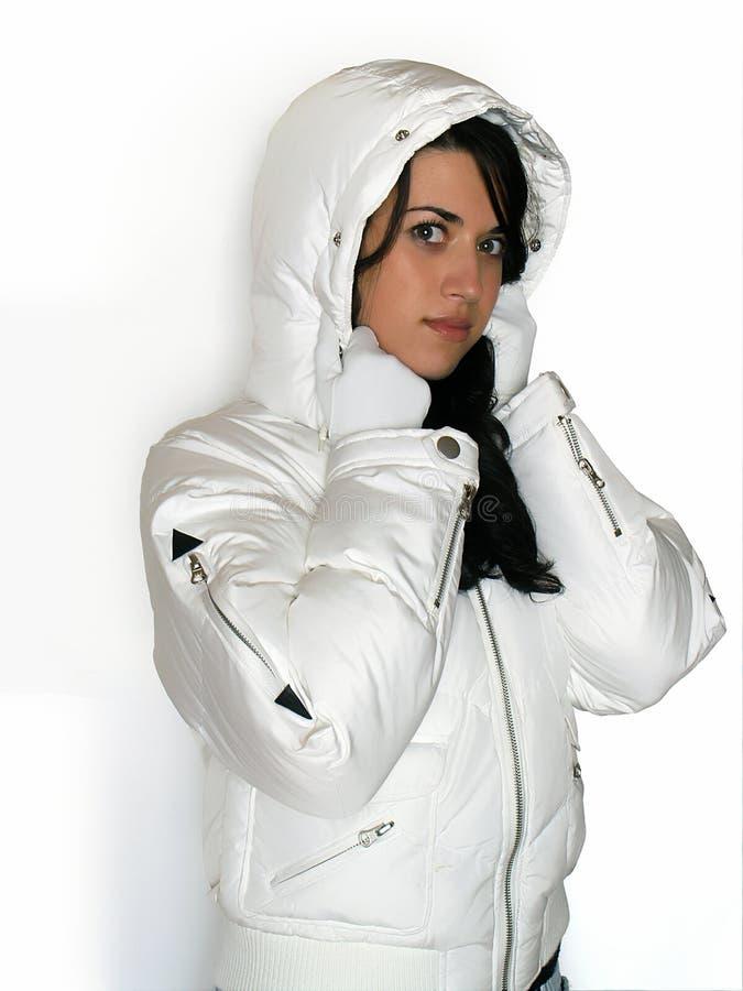 外套我爱我新的冬天 图库摄影