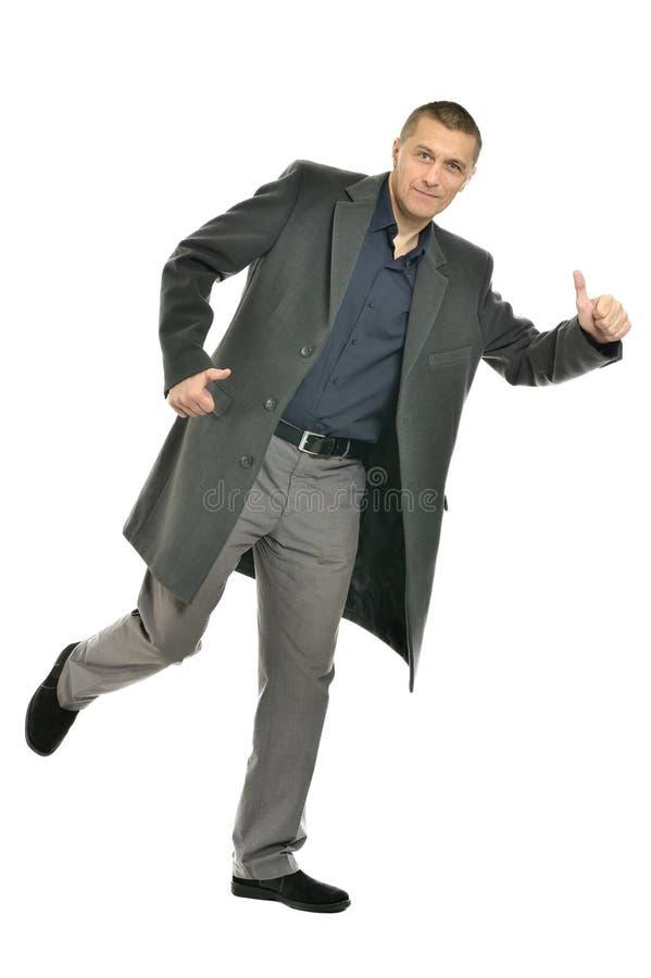 外套的英俊的人 免版税图库摄影