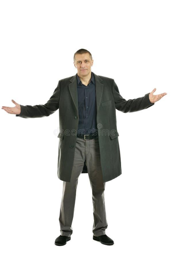 外套的英俊的人 免版税库存照片