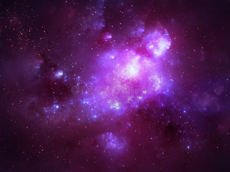 外层空间星云 皇族释放例证