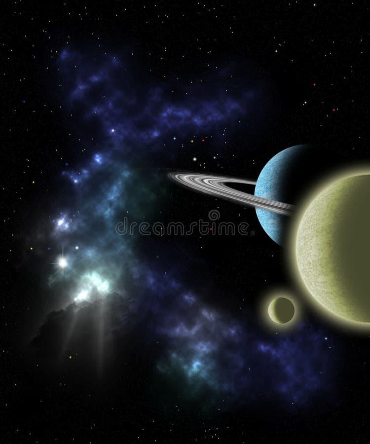 外层空间场面 库存例证