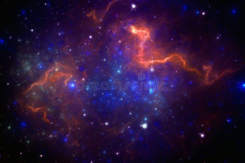 外层空间星云 库存例证