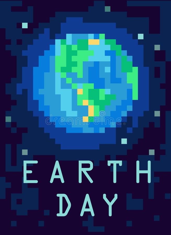 从外层空间的行星地球 映象点艺术例证 皇族释放例证