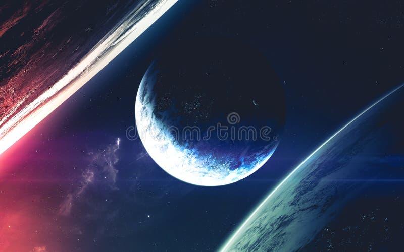 外层空间秀丽  美国航空航天局装备的这个图象的元素 库存图片