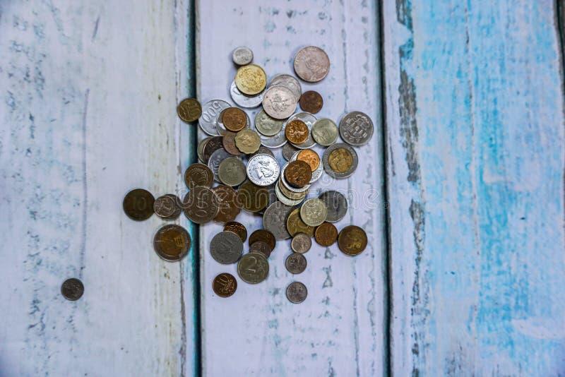 外币硬币 库存照片