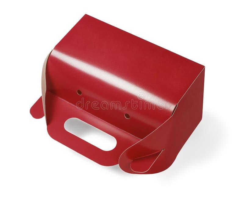 外带的纸蛋糕盒 免版税库存图片
