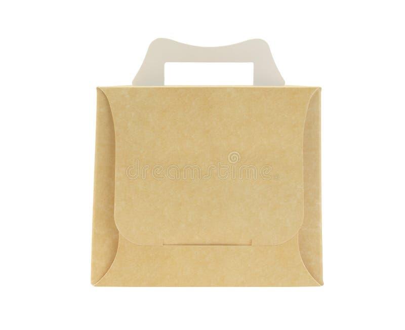 外带的蛋糕盒 免版税库存照片