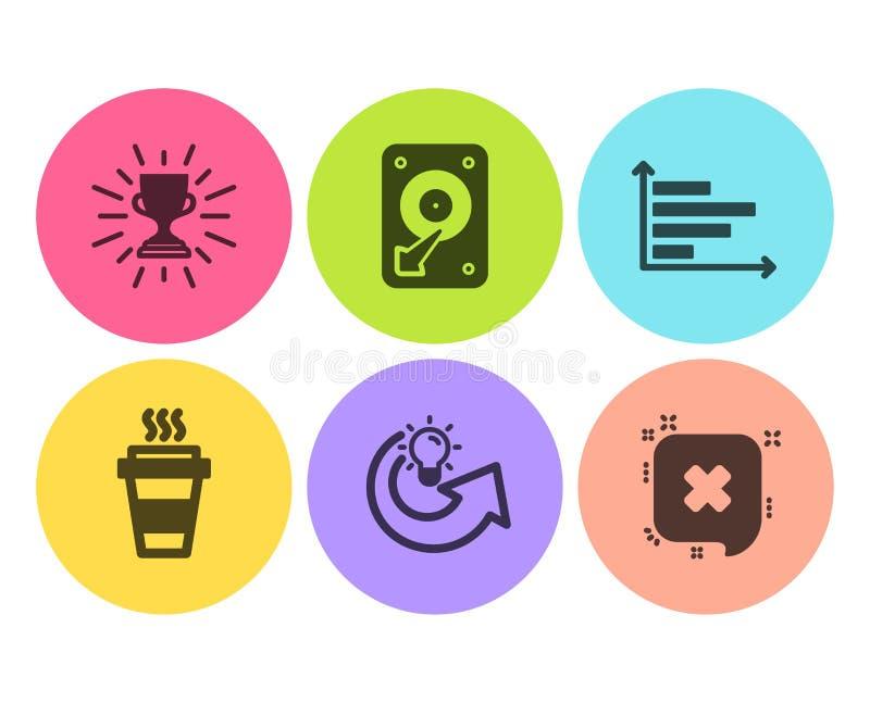 外带,水平的图和份额想法象集合 Hdd、战利品和废弃物标志 ?? 库存例证