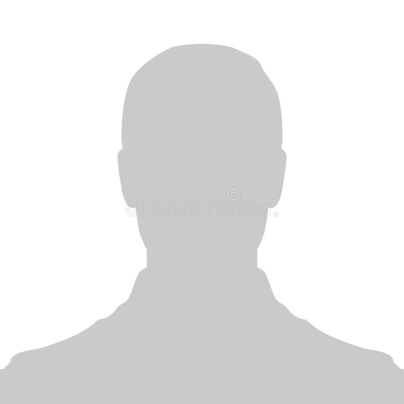 外形占位符图象 灰色剪影没有照片 向量例证