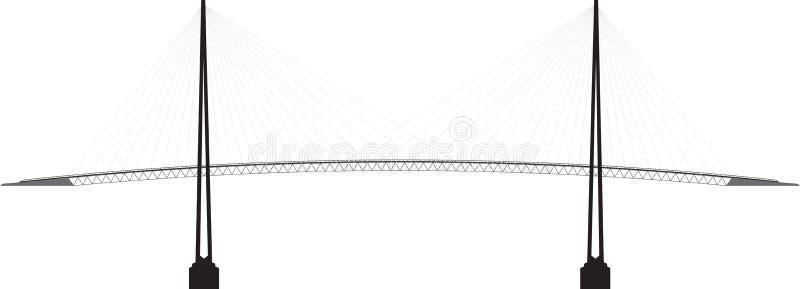 外形缆绳停留了桥梁 向量例证