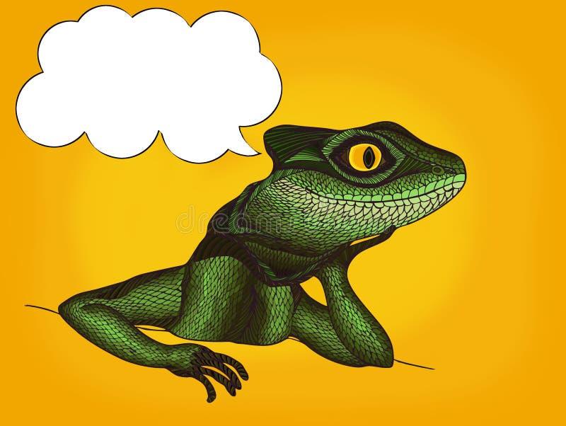 外形蜥蜴的流行艺术例证与想法泡影的 皇族释放例证