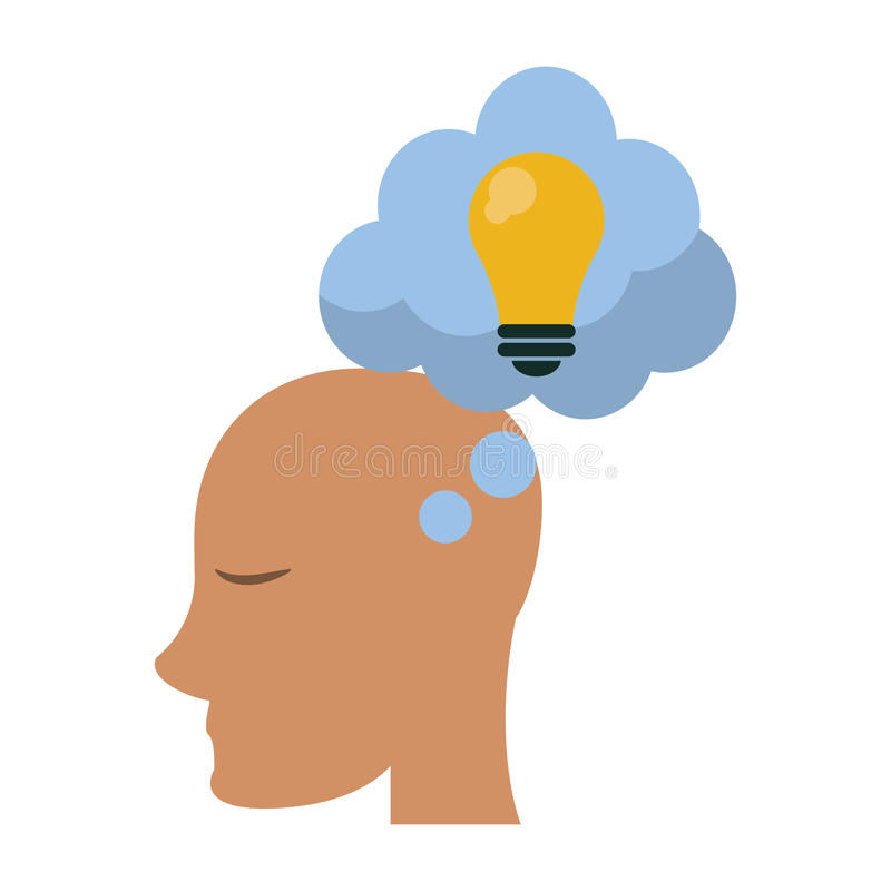 外形顶头想法泡影想法 库存例证
