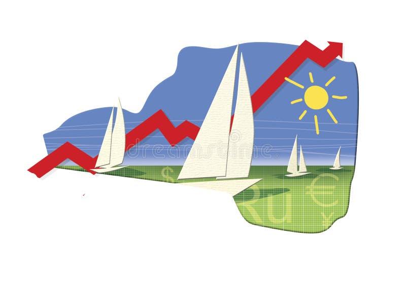 外汇市场的季节性增长 皇族释放例证