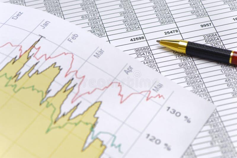外汇市场财务和图  免版税图库摄影