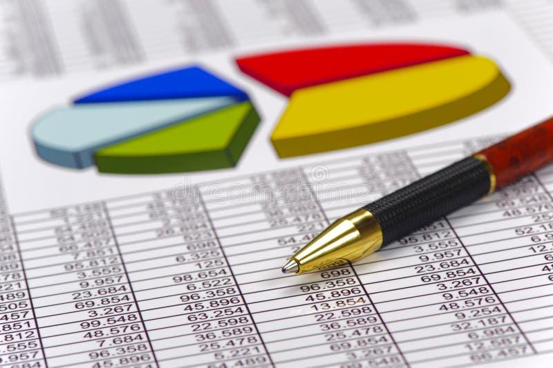 外汇市场财务和图  免版税库存图片