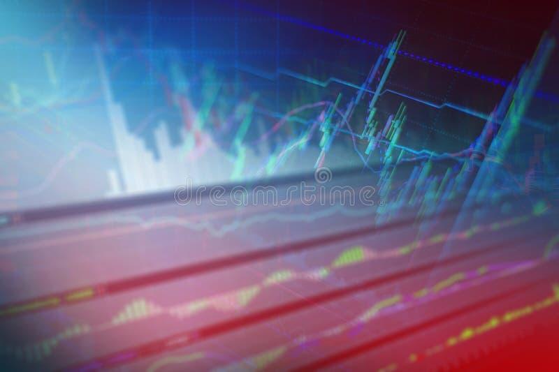 外汇股市投资贸易图表图  免版税库存图片