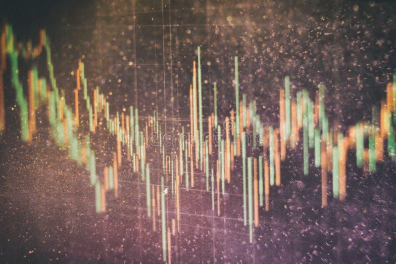 外汇贸易图表和烛台图适用于金融投资概念 经济趋向企业想法的背景 免版税库存照片