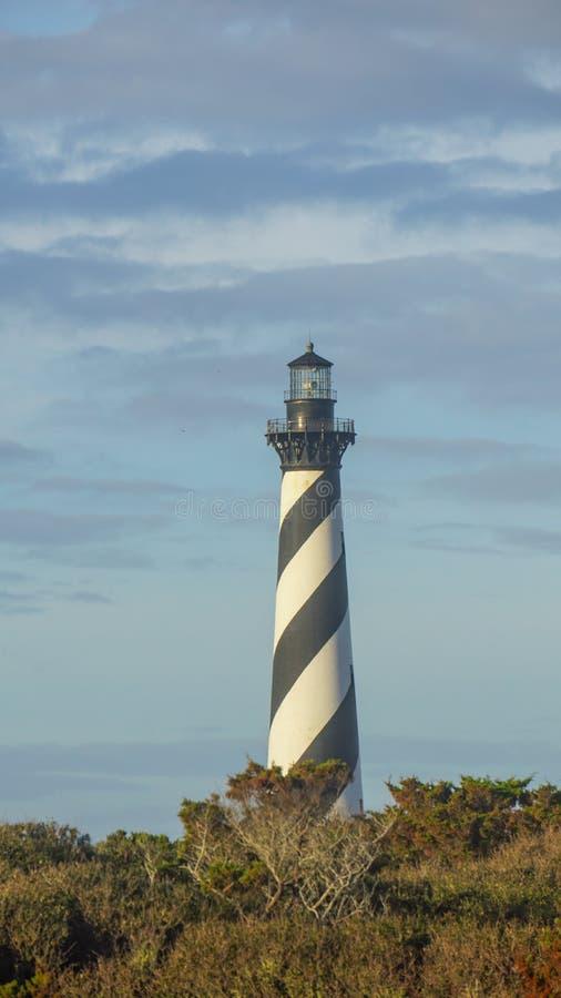 外滩群岛NC哈特拉斯角灯塔垂直 图库摄影